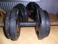 Bodymax Rubber Dumbells 18kg