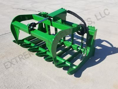 John Deere Compact Tractor 48 Root Grapple Bucket--100 Usa Components