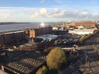 stunning river views 15th fl 1 bed apt, beetham tower, city ctr, fully furn, 24hr manned security