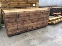 New good quality timber sleepers 100x200x2.400 £18 each