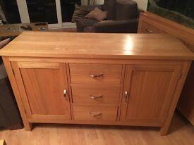 Solid oak dresser unit