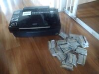 Epson printer / scanner / photocopier with 21 new cartridges