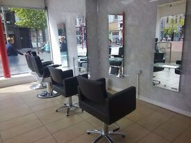 Chair available for hairdresser- Hair extensions - Barber within Beauty Salon in Glasgow city Center