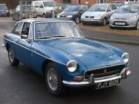1972 MGB GT Teal Blue, Wire Wheels
