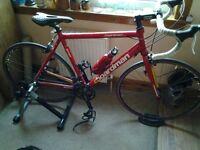 Chris Boardman racing bike, carrera mountain bike, kids bike trailer