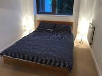 Double bed frame and matress.