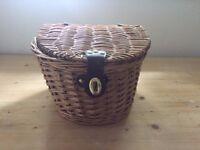 Vintage Style Wicker Front Bike Basket