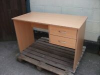 Computer office desk rectangle 2 drawers student delivery available £20