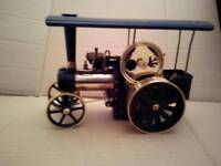 Wilesco model traction engine live steam.