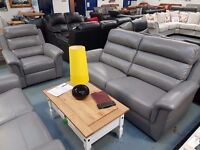 EX Display Grey Messina 3+2+1 Which Is Full Leather. RRP £3997, Now £1999. Still Under Full Warranty