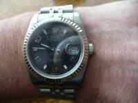 Rolex Datejust. 36mm. Grey dial
