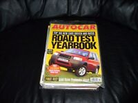 12 Classic Autocar Magazines from 1992 to 2004 including 1998 Toyota Motorsport Calendar