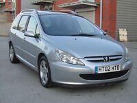 Peugeot 307 SW SE HDI Silver Estate Diesel, 3 Months Warranty, HPi Clear