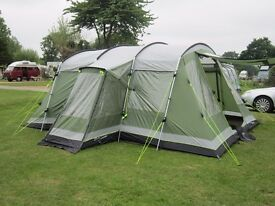 ** OUTWELL MONTANA 6 TENT & FOOTPRINT GROUNDSHEET - ONLY USED 7 TIMES - EXC COND **