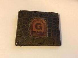 Gumesi Crocodile Brown Leather Wallet for Men