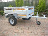 Unused Erde 143 classic trailer,new jockey wheel,new spare wheel,new flat cover.