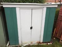 Small garden shed metal