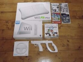 Wii + WiiFit + accessories (BOXED & IN EXCELLENT CONDITION)