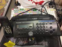 panasonic fax machine with hands free phone system