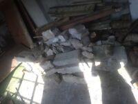 Free - hardcore rubble and wood
