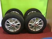 """4 Porsche Cayenne 18"""" Alloys with Dunlop SP Winter Sport 3D Tyres"""