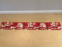 FREE Red patterned Roman blind