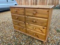 Ducal solid pine chest of drawers. 2 available. Possible delivery