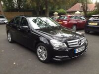 2012 (62) Mercedes-Benz C Class 2.1 C200 CDI SE (Executive), Black Diesel Full Service H 4 new tyres