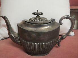 Teapot Electro Plated Britannia Metal Antique
