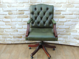 High Back Captains Leather Swivel chair (Delivery)
