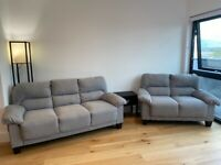 New Sofa Set - Two+Three Seater. Only opened four weeks ago
