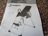 Inversion Table - in good condition and little used.