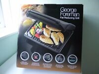 GRILL- George Foreman fat reducing grill for 7 people, new & perfect condition
