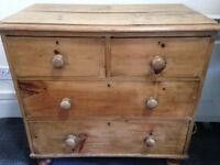 Antique/Vintage Pine Dresser/Chest, A Beauty!