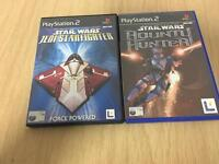2x Star Wars titles on the PlayStation 2