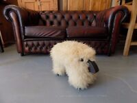 Lovely Cute Fluffy Sheep Footstool