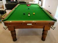 Antique Oak Snooker Table