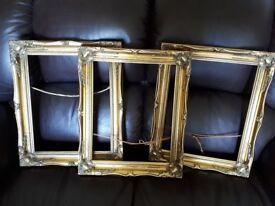 Gold photo frames