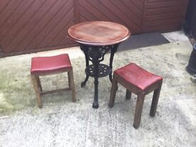 Bar table and stools