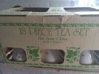 Lovely bone china 18 piece tea set. As new still boxed