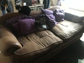Free - large 3/4 seater sofa with large footstool