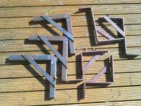 Iron brackets/mounts/shelving