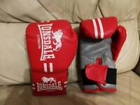 Lonsdale boxing gloves.