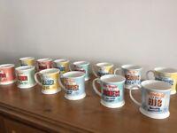 Box of 46 novelty mugs