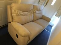 2pc suite. 3 seaters recliner sofa and matching chair