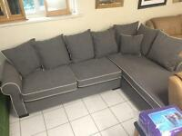 Comfy grey corner sofa new