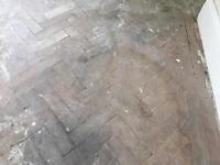 Oak parquet antique vintage floor reclaimed