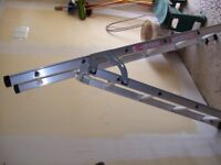 ABRU 3way domestic combination ladder with stairwell and extension modes. Extends 6feet to 10 feet.
