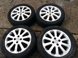 "vauxhall corsa or astra allu. 16""wheels with tyres. 205/50 r16"