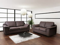BRAND NEW** AMY SOFA COLLECTION**LEATHER OR FABRIC**MATCHING ARM CHAIRS + STOOLS IN STOCK